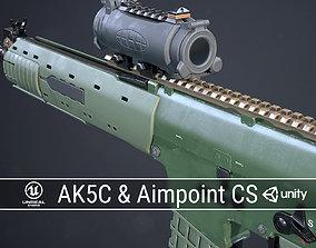 PBR Swedish Ak5C and Aimpoint CS 3D model