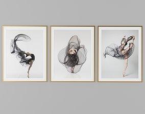 Dance Picture Frames 3D model