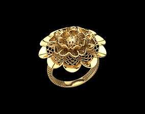 3D print model Flower ring cast
