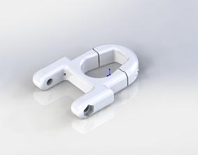 Headlight mounting bracket for electric 3D print model