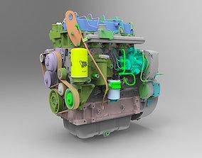 3D JCB 444TCA 93kW Diesel Engine