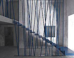 3D printable model interior stairs design