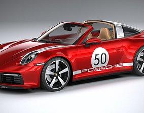 3D model Porsche 911 Targa 4S heritage 2021