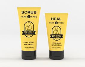 Bee Bald Heal Post -Shave Healing Balm 3D model