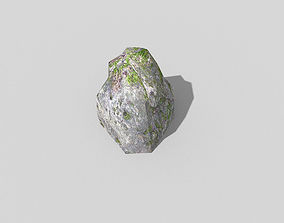 3D asset game-ready low poly rock