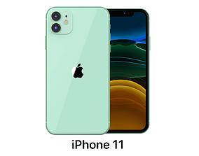3D model Apple iPhone 11 Green cellular