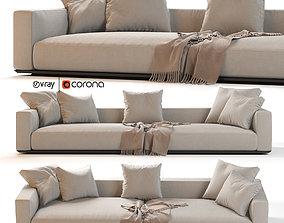 Flexform Grandemare Sectional Sofa 3D model