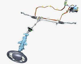 Car Steering System 3D