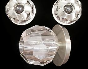 RH BOULE DE CRISTAL PETITE SINGLE SCONCE Nickel 3D