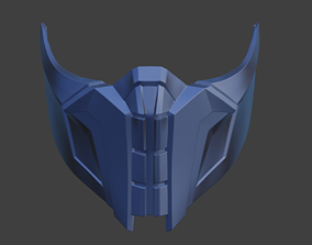 Cyber Sub Zero mask from Mortal Kombat 9 3D print model 2
