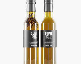 container 3D olive oil