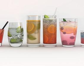 beverage 6 Drinks 3D model