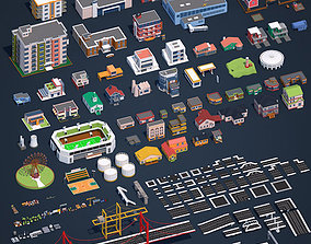 3D asset Low Poly City Pack 2