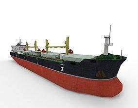 Bulk carrier ship 190m 3D model