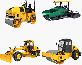 3D model Collection Construction Vehicles 02