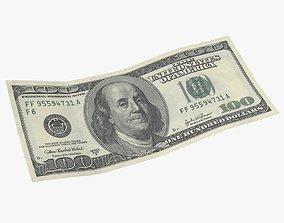 100 Dollar Bill 3D asset
