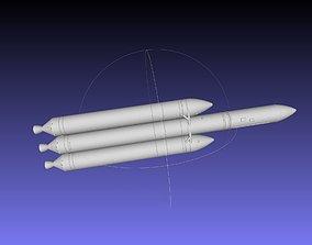 miniature Delta IV Heavy Rocket 3D-Printable Miniature