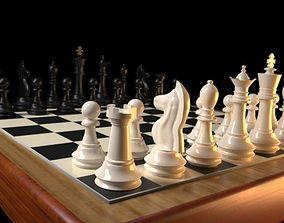 Photorealistic Chess 3D asset