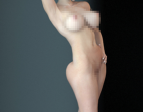 Female nude rigged 3D