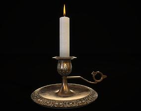 3D asset royal candle