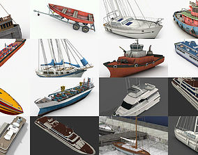 3D LowPoly Water Craft Collection