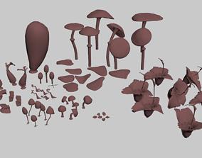 sci-fi Felucia stuff 3D model low-poly