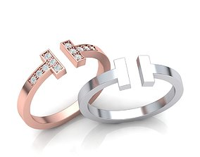 T ring tiffany printable 3dmodel