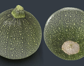 3D asset low-poly ZUCCHINI MOON