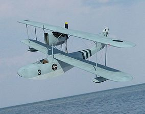 Seaplane Macchi M41 bis 3D animated
