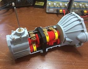 Toyota 22RE engine working 5-speed transmission model