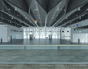 3D model Exhibition Hall exterior and interior