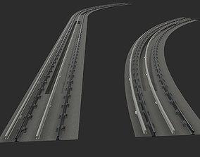 Modular Subway Tracks 3D model