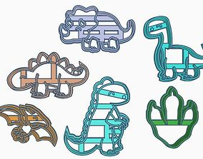 3D print model Dino Cookie Cutter Set