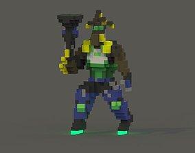 realtime Lucio Overwatch Voxel Model