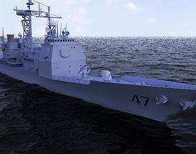 Class Cruiser CG47 USS Ticonderoga 3D model