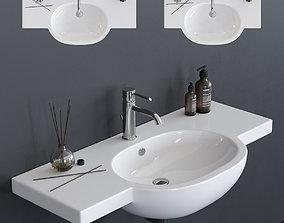 GALASSIA M2 Washbasin art 5235 art 5236 3D