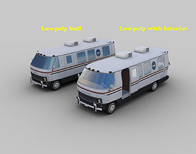 3D model NASA Astrovan Airstream Lowpoly