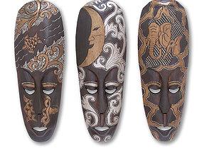 African masks 3D