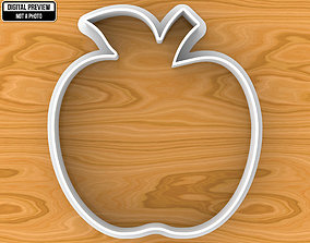 3D printable model Apple Cookie Cutter