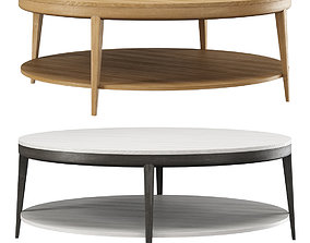 3D model Trestle Round Coffee Table by HBF studio