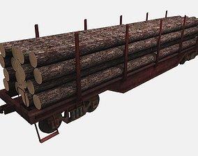 3D model Lumbar Railcar