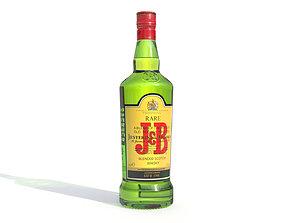 JB alcohol whiskey Bottle 3D asset