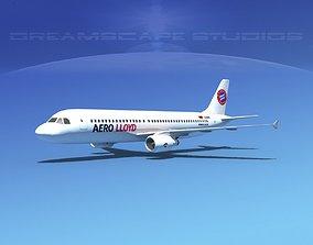 Airbus A320 LP Aero Lloyd 3D model