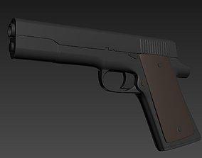 3D model Pistol Gun soldier
