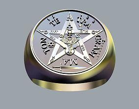 jew 3D print model Tetragrammaton Ring