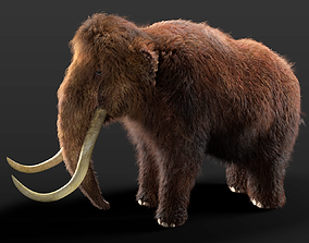 3D model Woolly Mammoth Rigged Hairs