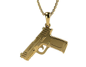 3D printable model Smith and Wesson gun pendant