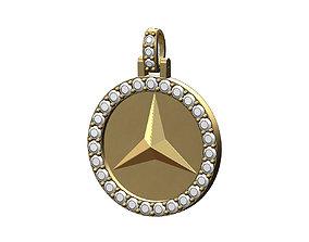 3D print model Diamond Mercedes Benz logo Pendant