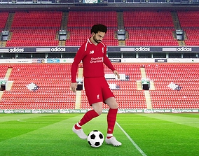 Mohamed Salah rigged 3D model