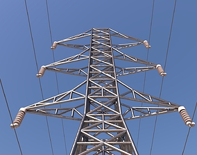 ELECTRIC TOWER 3D asset game-ready
